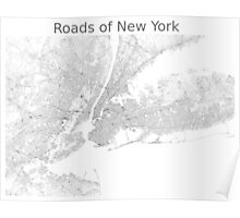 Roads of New York Poster
