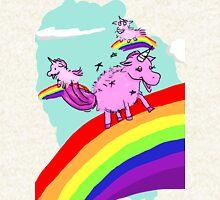 Pink fluffy unicorns dancing on rainbows Hoodie