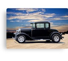 1930 Ford Model A 'In Basic Black' Coupe Canvas Print
