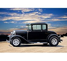 1930 Ford Model A 'In Basic Black' Coupe Photographic Print