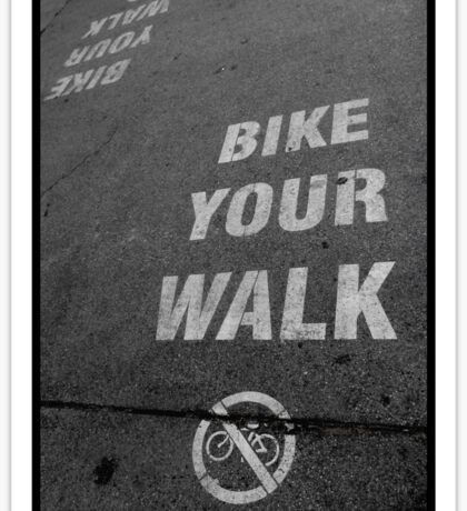 Bike Your Walk Sticker