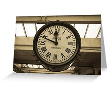 Carnforth Station Clock Greeting Card