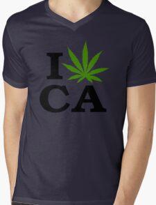 I Marijuana California Mens V-Neck T-Shirt