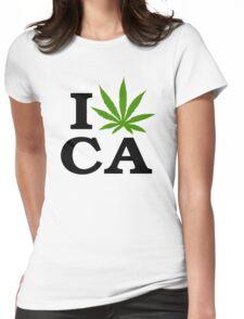 I Love Marijuana California Cannabis Womens Fitted T-Shirt