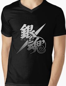 Gintama white logo Mens V-Neck T-Shirt