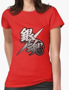 Gintama white logo Womens Fitted T-Shirt