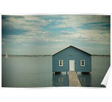 Blue Boat Shed - South Perth Poster
