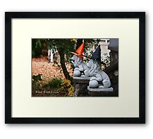 Which Witch Is Lion? Framed Print