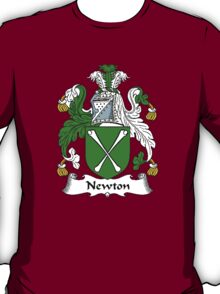 Coat of arms (family crest) for last-name or surname Newton . Heraldry banner for your name. T-Shirt