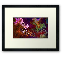 Devil Speaks With Forked Tongue Framed Print