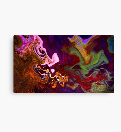 Devil Speaks With Forked Tongue Canvas Print