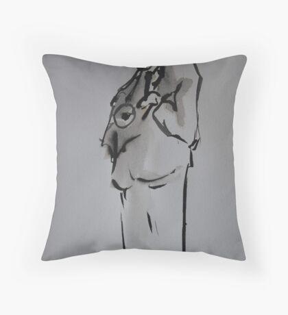 Horn Player Throw Pillow