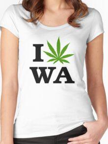 I Marijuana Washington Women's Fitted Scoop T-Shirt