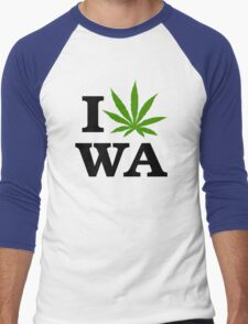 I Marijuana Washington Men's Baseball ¾ T-Shirt