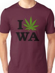 I Marijuana Love Washington Cannabis Unisex T-Shirt