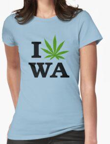 I Marijuana Washington Womens Fitted T-Shirt