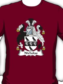 Coat of arms (family crest) for last-name or surname Nicholas . Heraldry banner for your name. T-Shirt