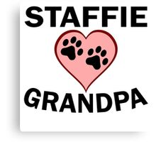 Staffie Grandpa Canvas Print
