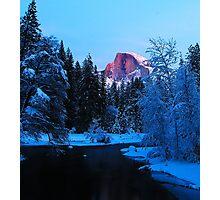 Yosemite Half Dome in Winter Photographic Print