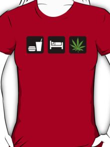 Eat Sleep Smoke Marijuana T-Shirt