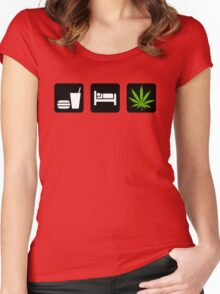 Eat Sleep Smoke Marijuana Women's Fitted Scoop T-Shirt