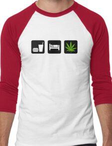 Eat Sleep Smoke Marijuana Men's Baseball ¾ T-Shirt
