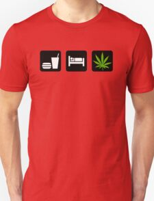 Eat Sleep Smoke Marijuana Unisex T-Shirt