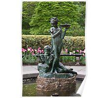The Secret Garden Fountain Poster