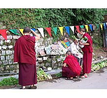 Nuns Buying Vegetables Photographic Print