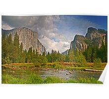 Yosemite and Merced River Poster