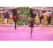 Skating around the Christmas tree 2 Photographic Print