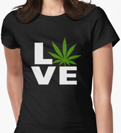 I Love Marijuana Womens Fitted T-Shirt