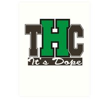 THC Marijuana Art Print