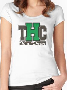 THC Marijuana Women's Fitted Scoop T-Shirt