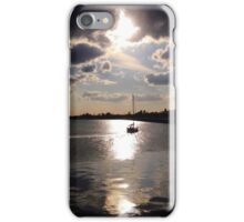 Boat heading into the sunset iPhone Case/Skin