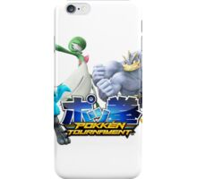 Pokken Tournament Logo with fighters (Render) iPhone Case/Skin