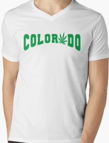 Marijuana Leaf Colorado Mens V-Neck T-Shirt