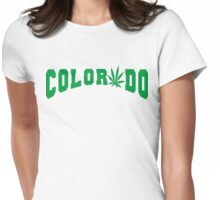 Marijuana Leaf Colorado Womens Fitted T-Shirt