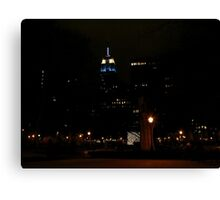 Blue for Christmas Canvas Print