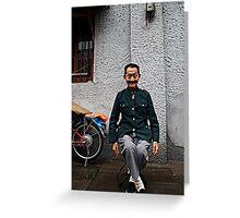 Mao leg cross Greeting Card
