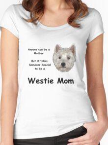 Westie MOM 2 Women's Fitted Scoop T-Shirt