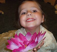 A Pink Flower Offering by Karen L Ramsey
