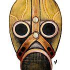 retro gas mask by zgkcd