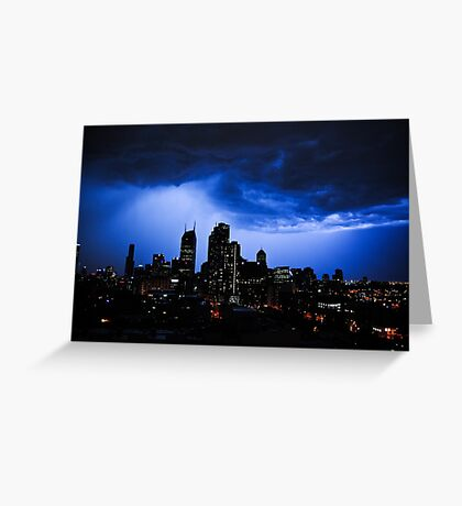Thunder Storm in town Greeting Card