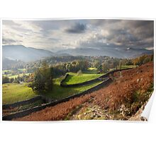 The Langdales From Loughrigg Poster