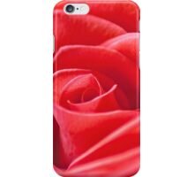 Macro of a red rose iPhone Case/Skin