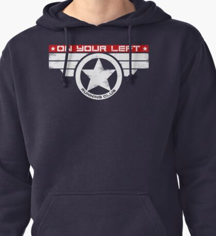 """""""On Your Left Running Club"""" Hybrid Inverted Pullover Hoodie"""