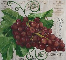 French Wine Red Grapes by Debbie DeWitt