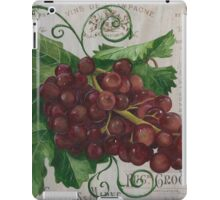 French Wine Red Grapes iPad Case/Skin