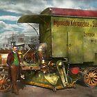 Steampunk - Street Cleaner - The hygiene machine 1910 by Mike  Savad